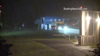 10/16/2014 Frederick, MD Ebola Jet Landing And Offloading Patient B-Roll