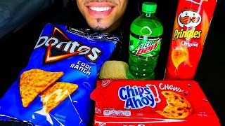 ASMR EATING JUNK FOOD MUKBANG JERRY *INTENSE CRUNCHY FOOD SOUNDS* NO TALKING