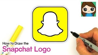How to Draw the Snapchat Logo
