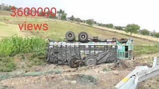 Why Truck accident on four lane Highway No .6 near Amravati Maharashtra