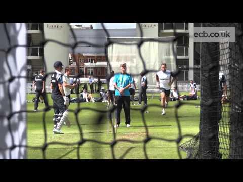 England nets: Liam Plunkett bowling quick!