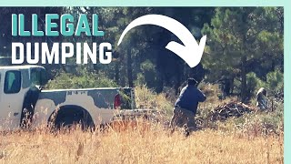CALLING OUT AN ILLEGAL DUMPER IN THE NATIONAL FOREST || RV LIVING