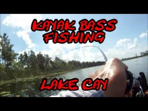 First Time Kayak Fishing Lake Cay! Bass Fishing!!
