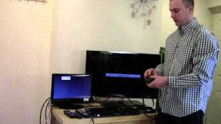 hdmi splitter 1 x input to 2 x output active amplifier setup demonstration www 5starcables com