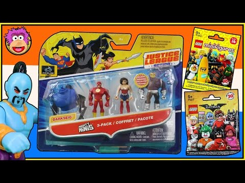 The DC Comics Justice League MONGUL Mini Figure 3 Pack is rescued by Robin +Lego Blind Bags Opening!