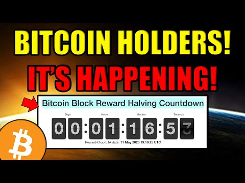 Bitcoin Halving 2020 HAPPENING NOW!