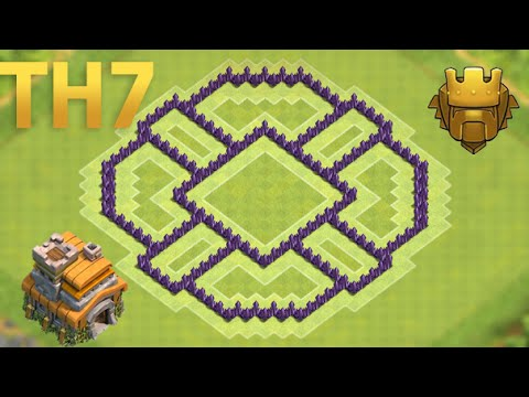 Coc New Best Town Hall 7 Th7 Farming Base With 3 Air Defenses New Update Youtube