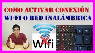 👉 Como ACTIVAR CONEXIÓN WI-FI O RED INALÁMBRICA【Metodo Recomendado】💻
