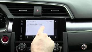 Using Android Auto on the all new 2016 Honda Civic