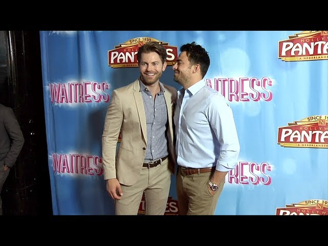 """Jonathan Bennett With His Boyfriend Jaymes \""""Waitress\"""" Los Angeles Premiere Red Carpet"""