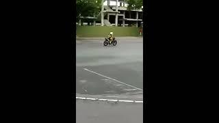 Crosser Cilik Dheyo Wahyu mulai latihan road race