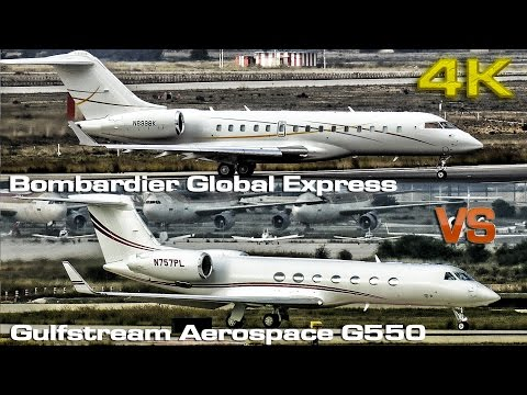 Bombardier BD 700 VS Gulfstream Aerospace G550 [4K]
