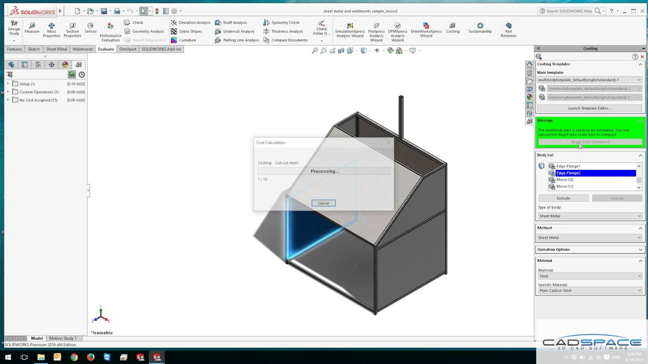 SolidWorks Simulation Performance on CAD Workstations – CADspace