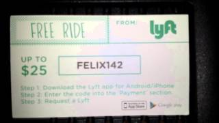 Take a$25 ride free for first time user with LYFT