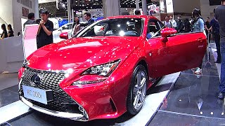 Luxury sport coupe Lexus RC 200T Video interior, exterior, 2016, 2017 model