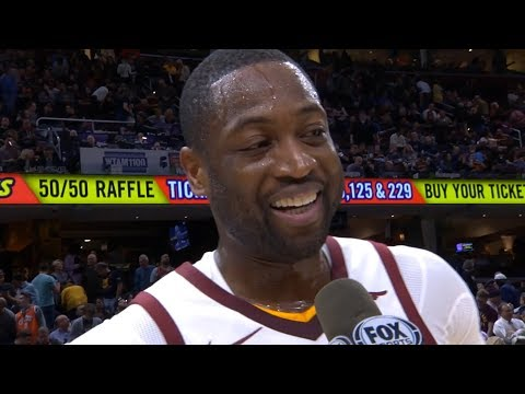 Dwyane Wade Interview After The First Half Of The Game / Cavaliers vs Heat