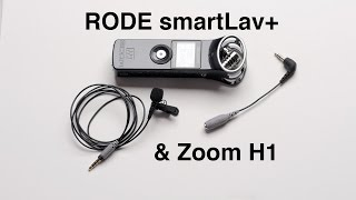 RODE smartLav+ and Zoom H1