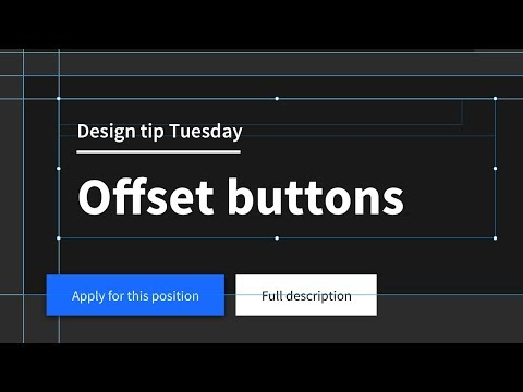 Break the grid, offset buttons! Design tip Tuesday