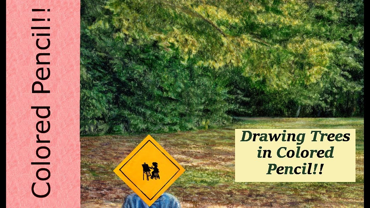 Drawing Trees in Colored Pencil-Demo - YouTube