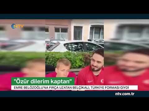 Fırça uzatan Belçikalı özür diledi Türkiye forması giydi