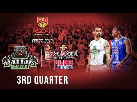 Macau Black Bears VS San Miguel Alab Pilipinas| 3rd Quarter| Feb 27 2019| ABL 2018-2019