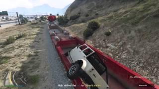 GTA5 | Jeep Jump Into Train