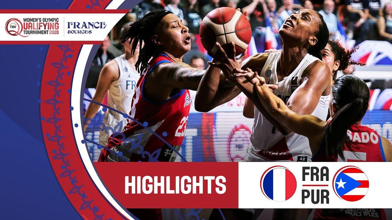France v Puerto Rico - Highlights - FIBA Women's Olympic Qualifying Tournament 2020