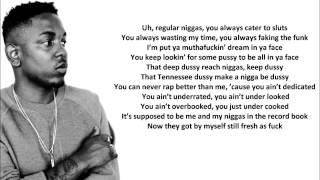 Kendrick Lamar - BET Cypher 2013, Lyrics on Screen