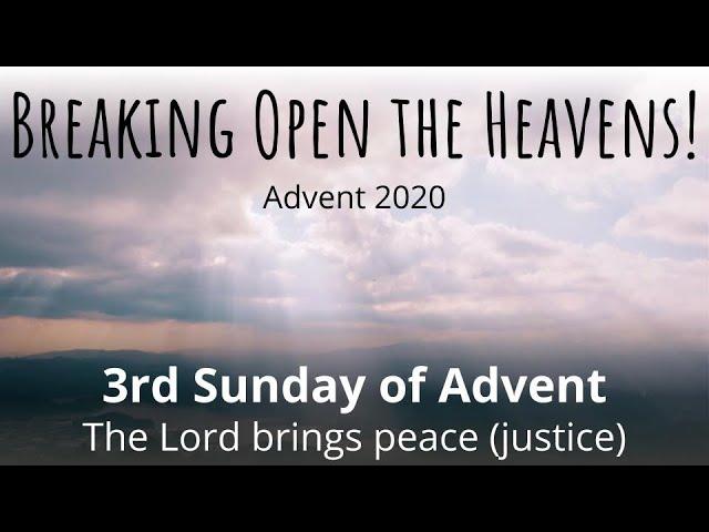 Third Sunday of Advent, December 13, 2020, Livestream