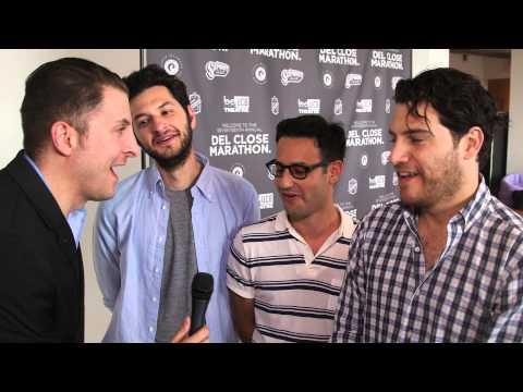 Ben Schwartz, Gil Ozeri & Adam Pally at the UCB 17th Annual Del Close Comedy Marathon