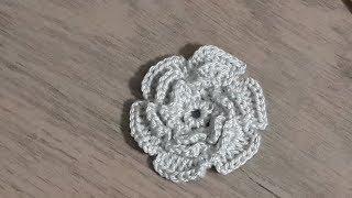Tığişi Örgü Gül, çiçek yapımı & Crochet flower