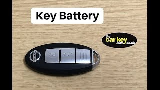 Key Battery Nissan Key fob HOW TO