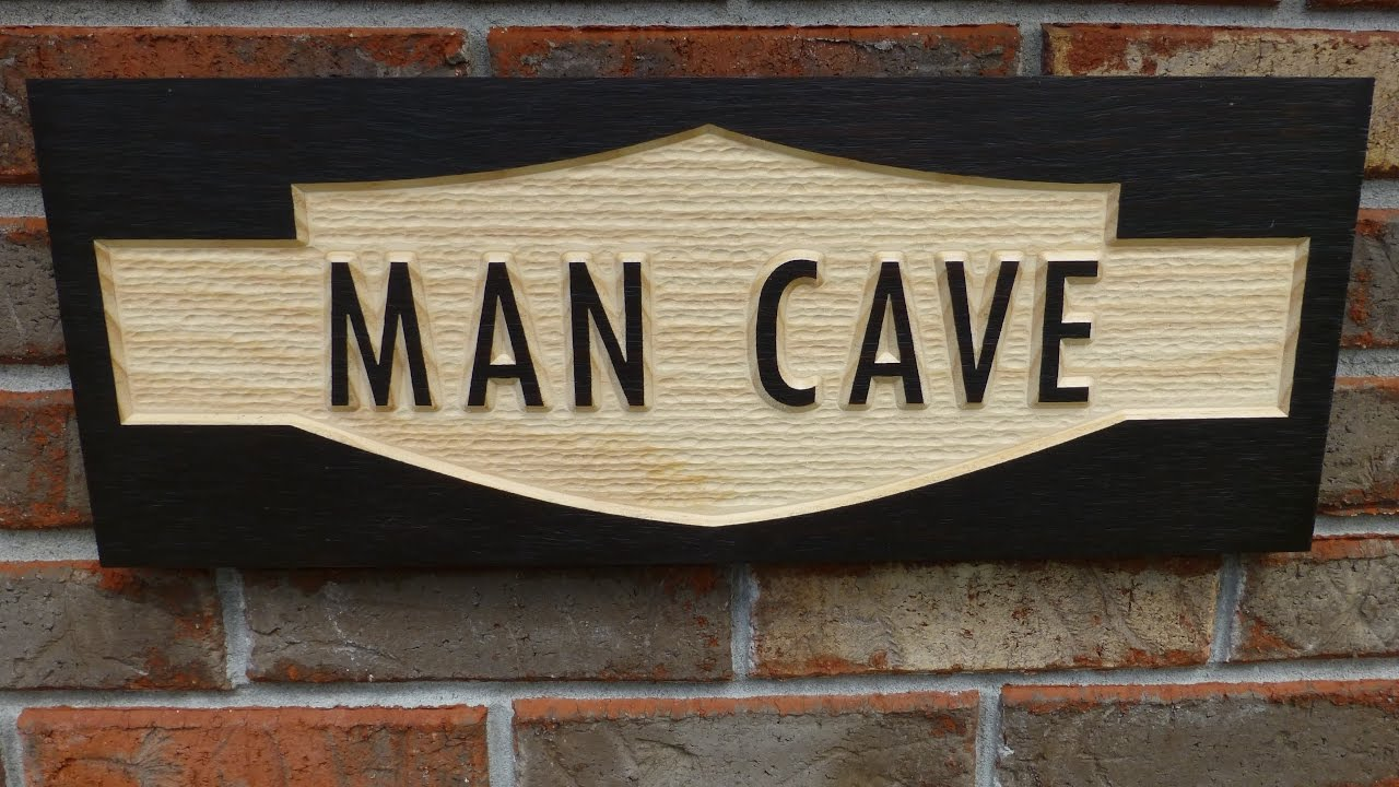 making a man cave sign with texture youtube. Black Bedroom Furniture Sets. Home Design Ideas