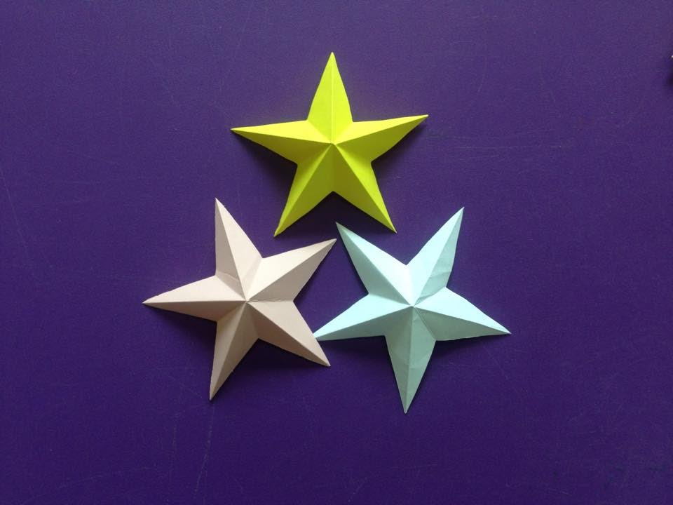 How To Make A 3d Paper Star Easy Origami Stars For Beginners