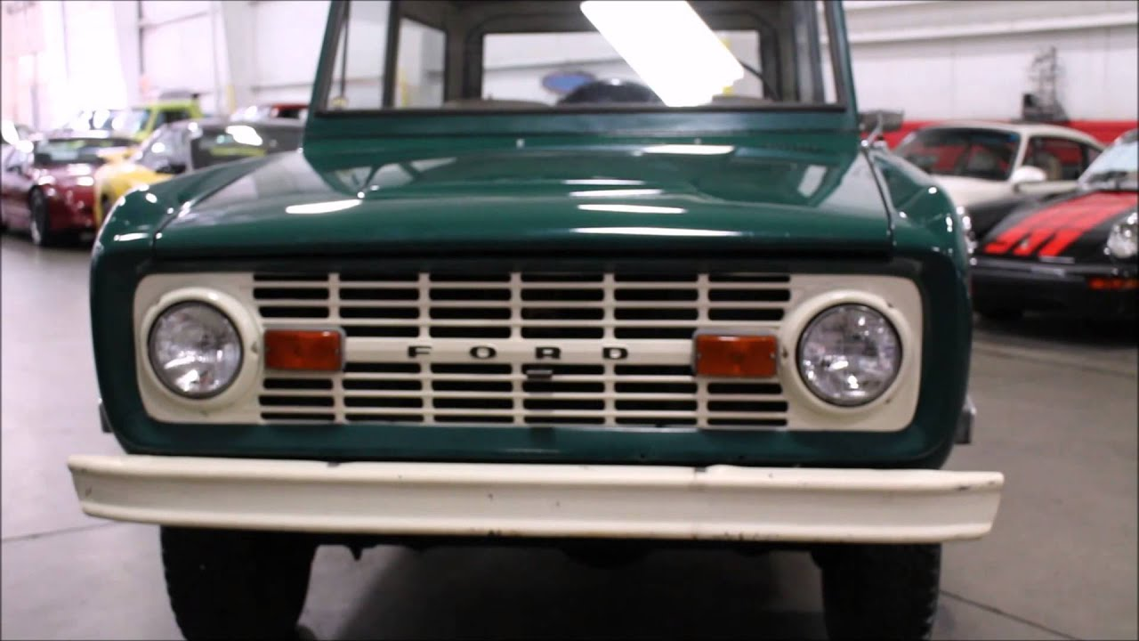 1969 Ford Bronco Green Youtube Lifted