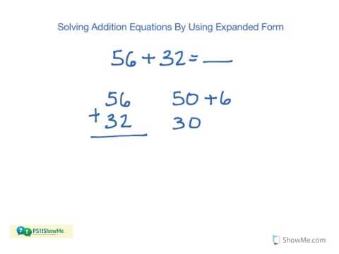 1st Grade Math Addition Expanded Form 2 Digit And 3 Digit