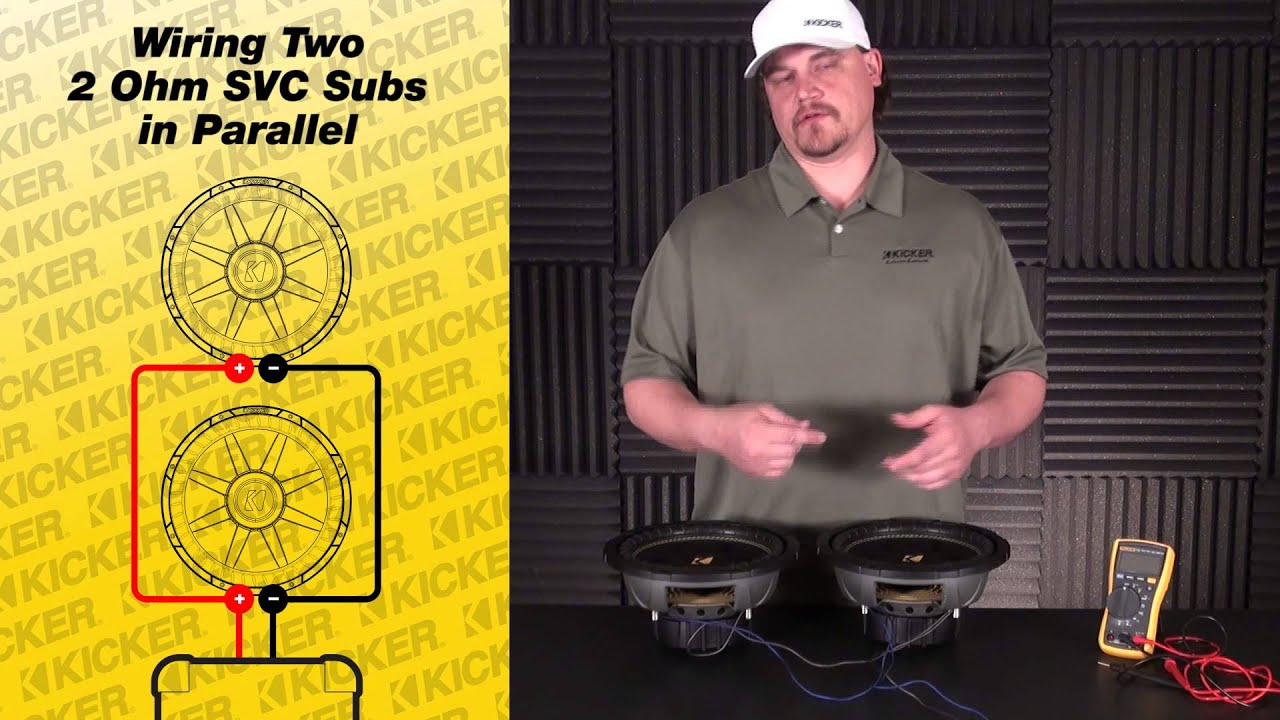 Subwoofer Wiring Two 2 Ohm Single Voice Coil Subs In Parallel Youtube For 2ohm Diagram