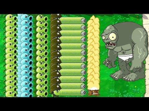 Plants Vs Zombies - All Pea PvZ Vs Gargantuar Vs Dr. Zomboss