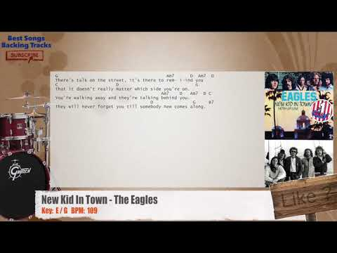 New Kid In Town - The Eagles Drums Backing Track with chords and lyrics