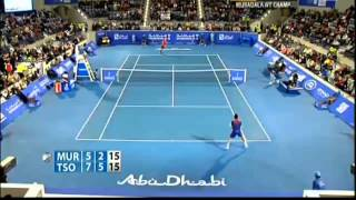 Andy Murray vs Jo-Wilfried Tsonga Mubadala World Tennis Championship ABU DHABI 2013-2014-highlights