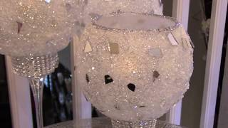 HOW TO MAKE FROSTED MOSAIC CANDLE HOLDERS / DOLLAR TREE DIY