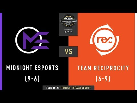 Midnight Esports vs Team Reciprocity | CWL Pro League 2019 | Division A | Week 8 | Day 2