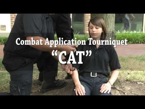 Tourniquet application training for EMS