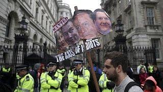 """""""Panama papers"""" : les anti-Cameron manifestent à Londres"""