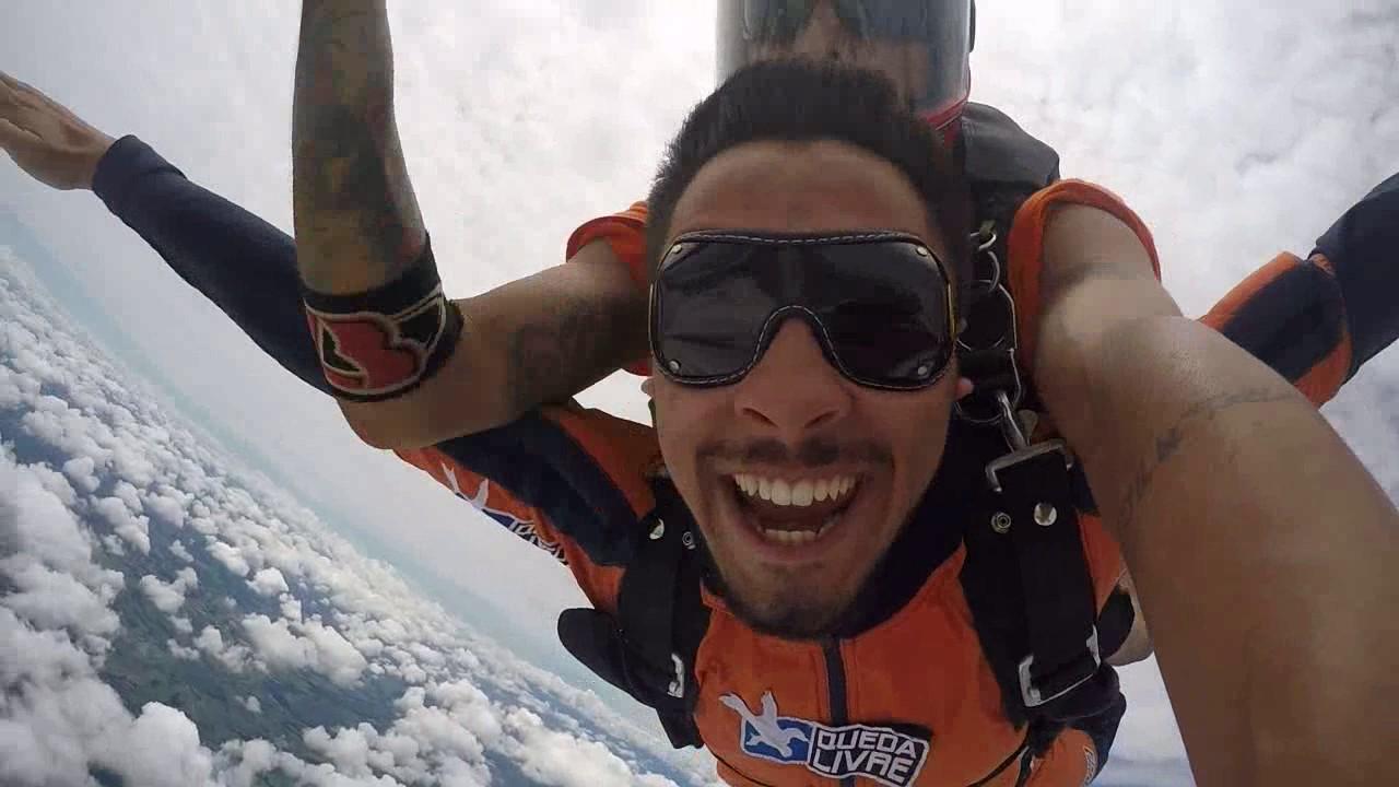 Salto de Paraquedas do Ygor na Queda Livre Parequedismo 07 01 2017