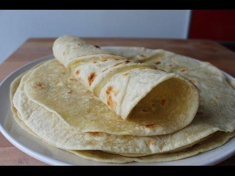 Tortilla Wraps Selber Machen (Rezept)    Homemade Tortilla Wraps (Recipe)    [ENG SUBS]