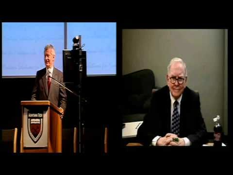 Montana Economic Development Summit -- Warren Buffet, Part 3