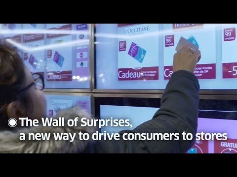 Wall of Surprises: a unique connected shopping experience