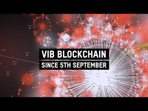 The 1st ever VIB blockchain network visualisation