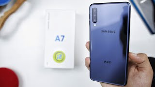 samsung galaxy a7 2018 unboxing | تجربة اول يوم